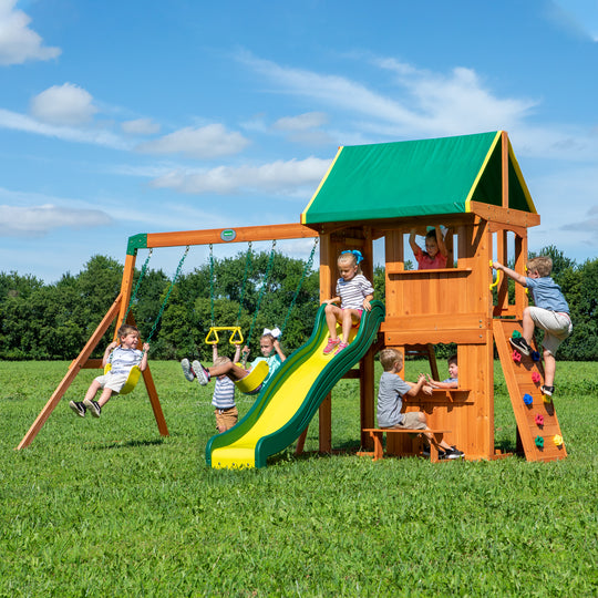 Backyard Discovery Playsets - Somerset Wooden Swing Set #main