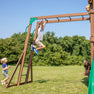 Skyfort II With Vac Slide Monkey Bars