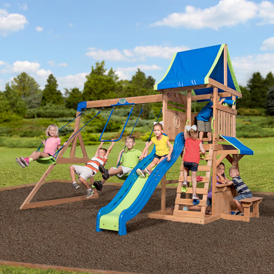 Backyard Discovery Playsets - Cedar Point Wooden Swing Set #main