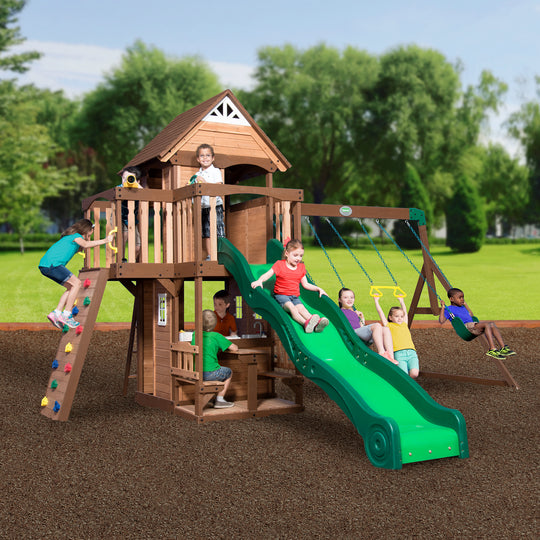 Backyard Discovery - Mount Triumph Wooden Swing Set#main