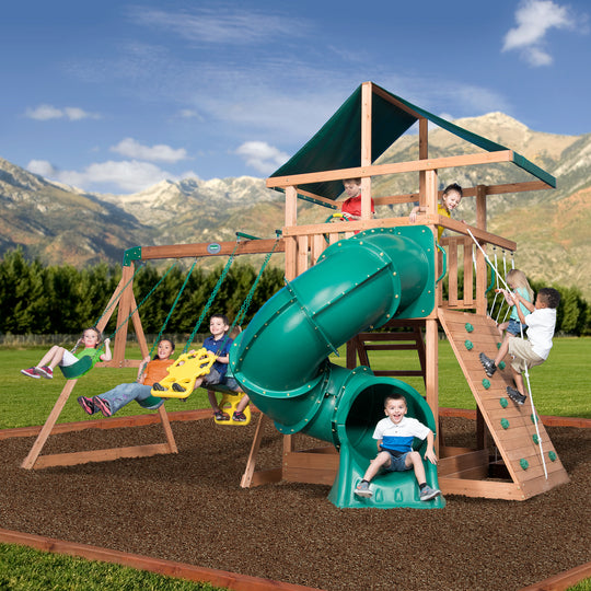 Backyard Discovery Playsets - Mountain Range Wooden Swing Set#main