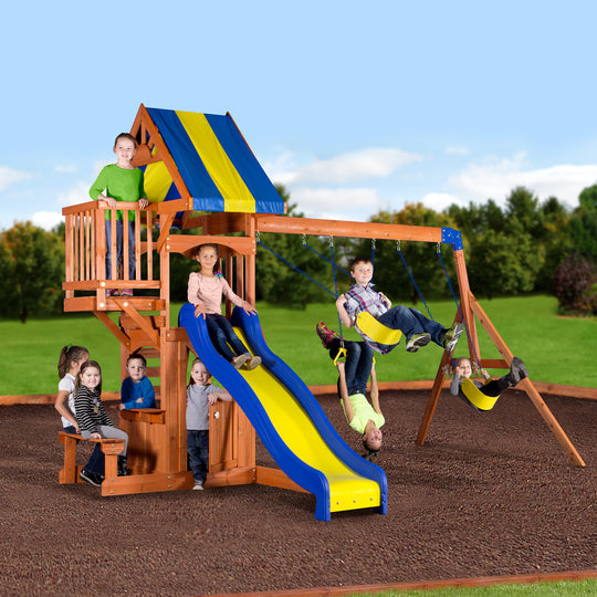 Backyard Discovery Playsets - Peninsula Wooden Swing Set #main