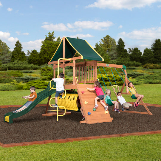 Backyard Discovery Playsets - Rockin' Adventure Wooden Swing Set #main