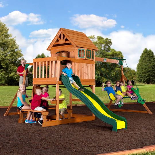 Backyard Discovery Playsets - Springboro Wooden Swing Set #main
