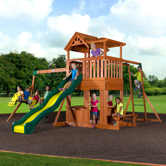 Backyard Discovery Playsets - Thunder Ridge Wooden Swing Set #main