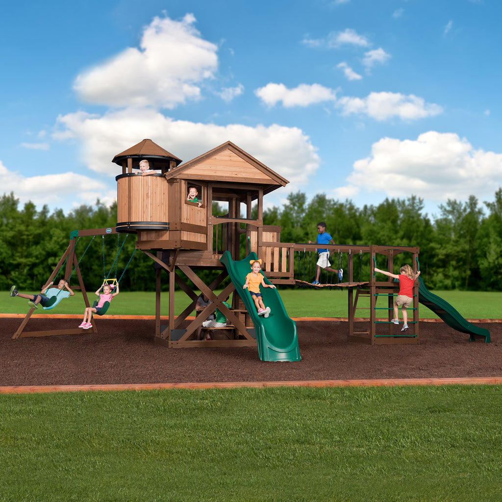 Backyard Discovery Playsets   Timber Cove Wooden Swing Set #main