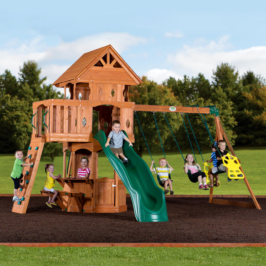 Backyard Discovery Playsets - Woodland Wooden Swing Set #main