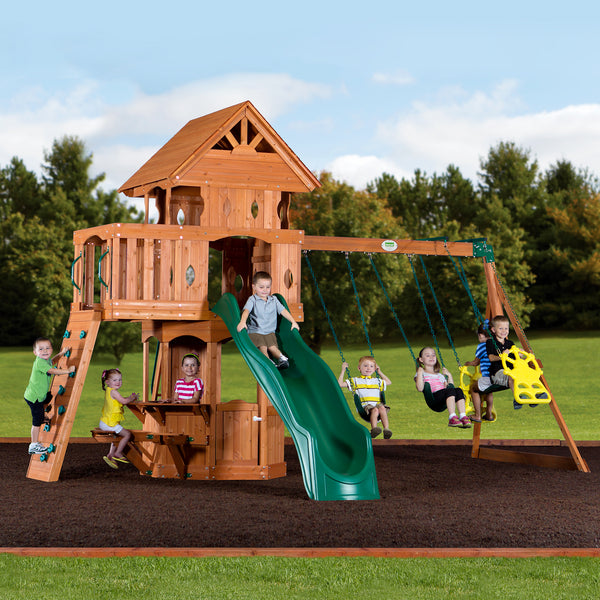 Woodland Wooden Swing Set