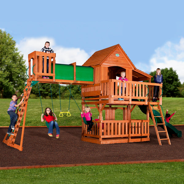 Woodridge Ii Wooden Swing Set Backyard Discovery