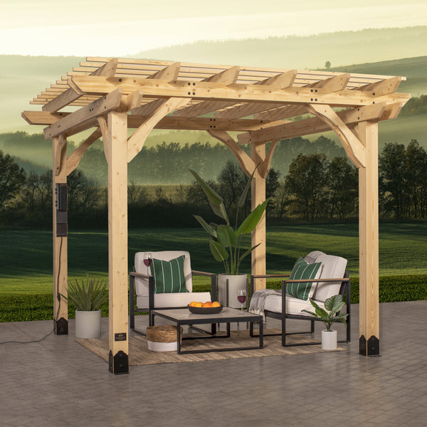 10x10 Pergola Fairhaven Naturel