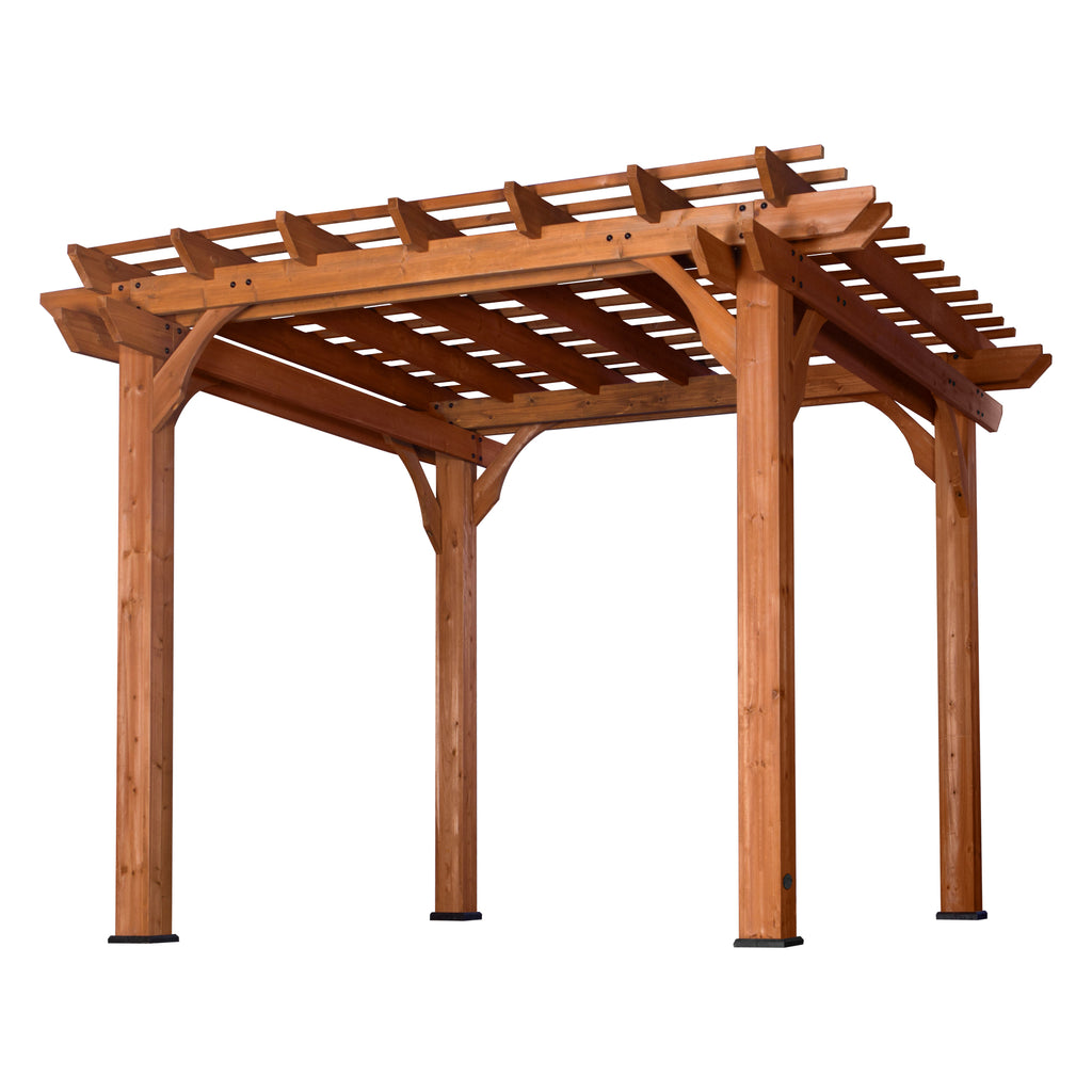 10' X 10' Wooden Pergola For Patios
