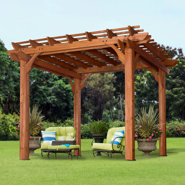 10 X 10 Wooden Pergola For Patios Backyard Discovery