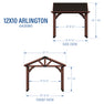 12x10 Arlington Gazebo Diagram