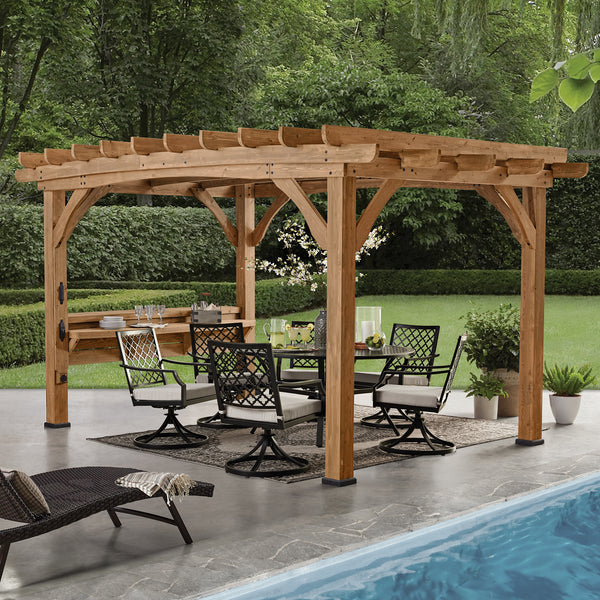 Silverton 14 x 10 Pergola With Electric - Sandalwood
