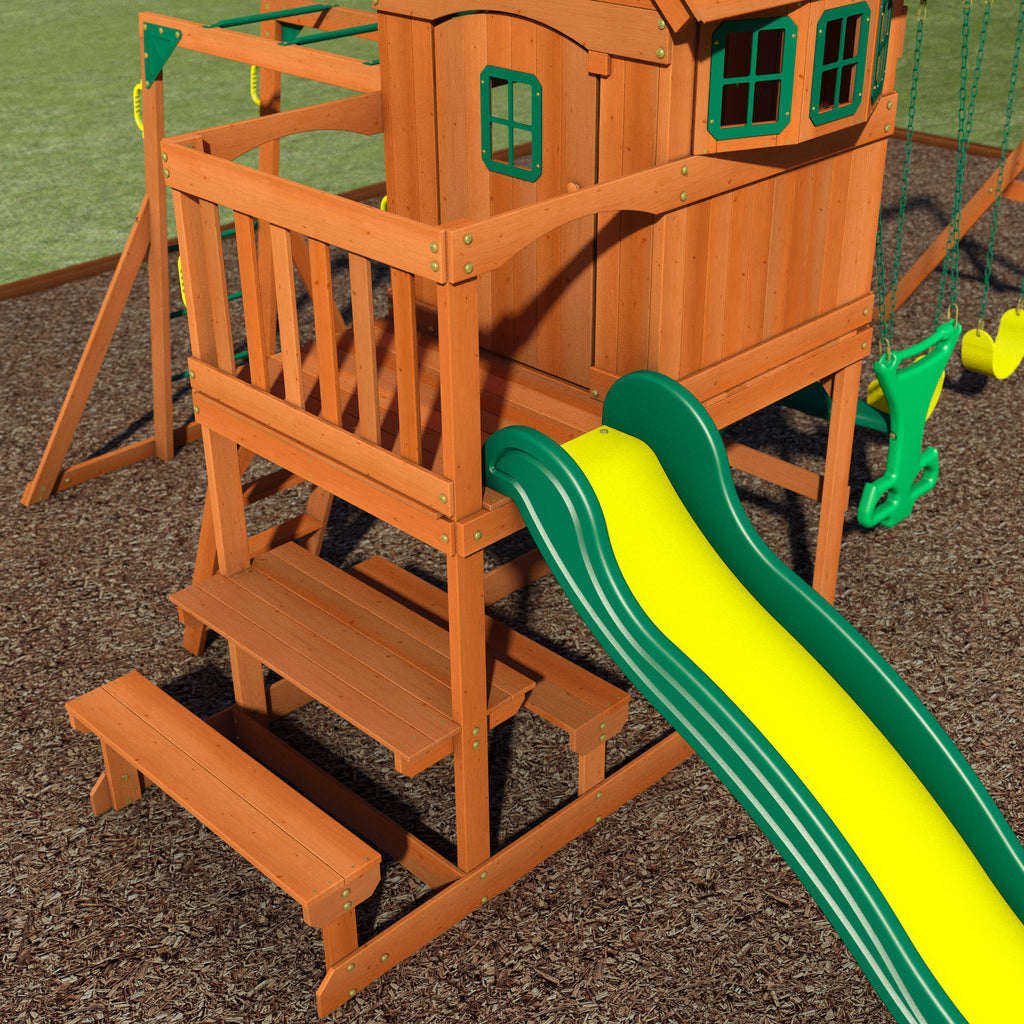 springboro wooden swing set playsets backyard discovery
