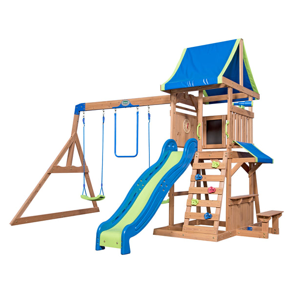 Backyard Discovery Playsets - Cedar Point Wooden Swing Set #features