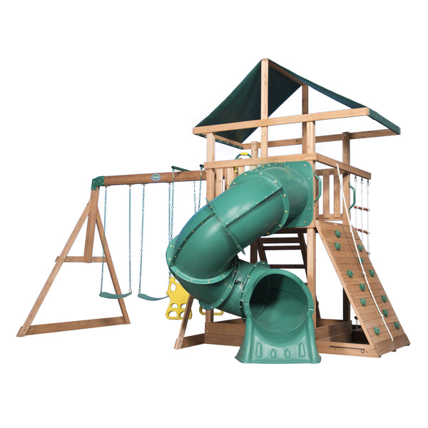 Backyard Discovery Playsets - Mountain Range Wooden Swing Set #features