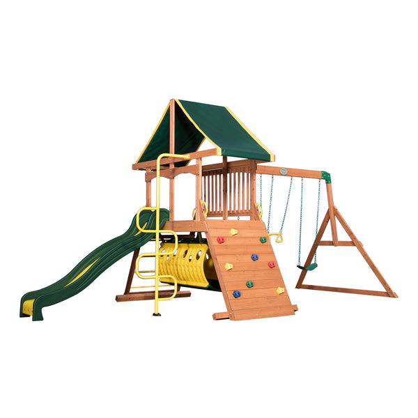Backyard Discovery Playsets - Rockin' Adventure Wooden Swing Set#features