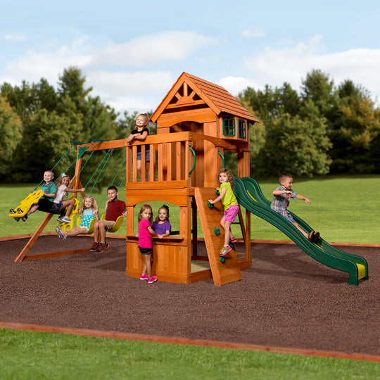 Backyard Discovery Playsets - Atlantic Wooden Swing Set #main