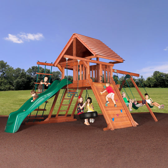 Avalanche Wooden Swing Set #main