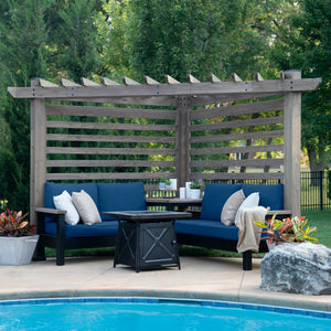 Laguna Cabana Pergola with Conversation Seating
