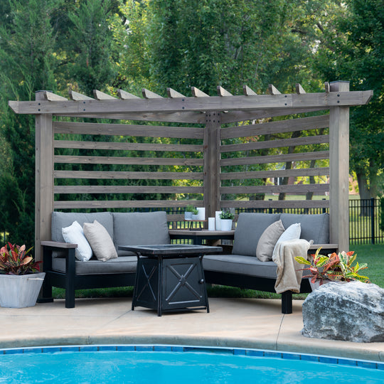 Catalina Cabana Pergola Gray #main