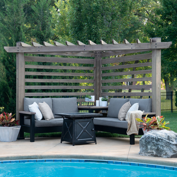 Catalina Cabana Pergola with Conversation Seating