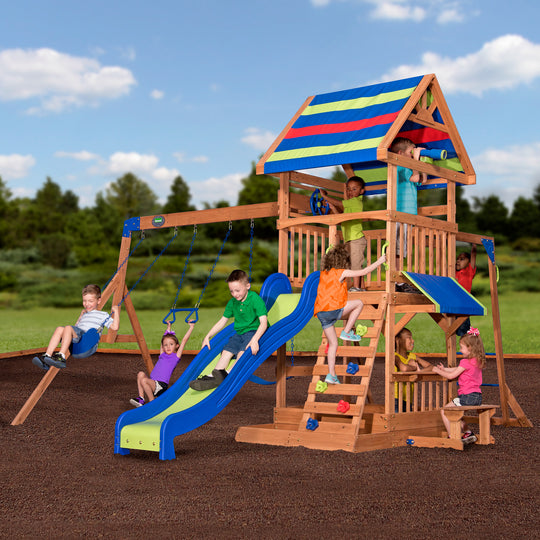 Backyard Discovery Playsets - Northbrook Wooden Swing Set#main