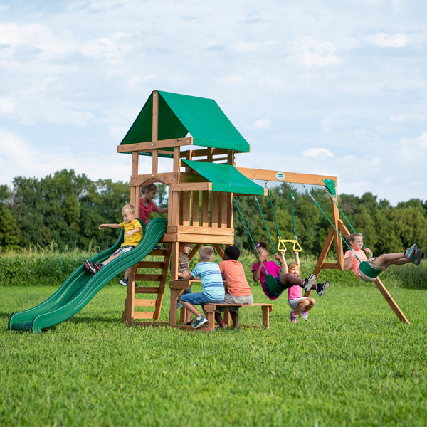 Belmont Wooden Swing Set