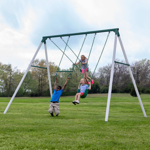Big Brutus Heavy-Duty Metal A-Frame Swing Set