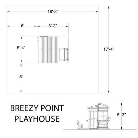 Wooden Playhouses - Breezy Point Playhouse #details