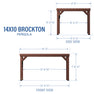 14x10 Brockton Pergola Diagram