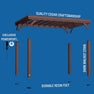 14x10 Brockton Pergola Exploded View