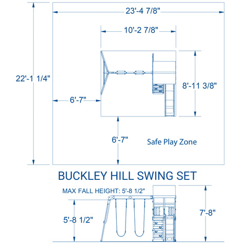 Buckley Hill Swing Set #details