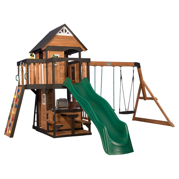 Backyard Discovery Playsets - Canyon Creek Wooden Swing Set#features