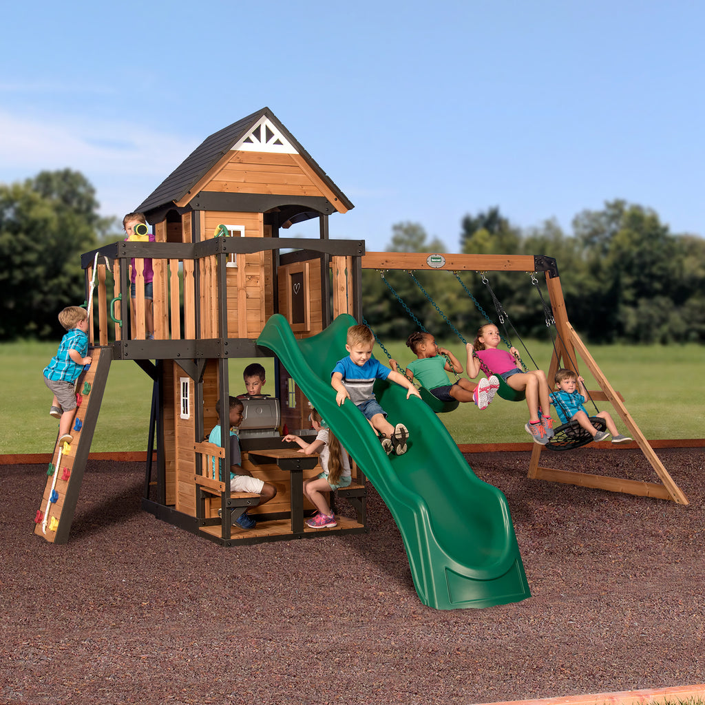Backyard Discovery Playsets - Canyon Creek Wooden Swing Set #main - Canyon Creek