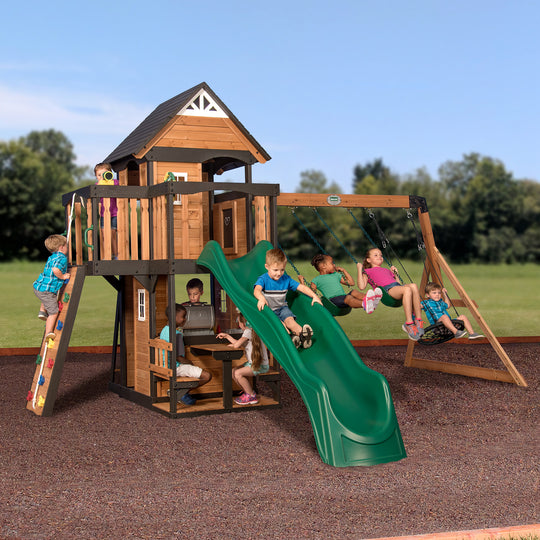 Backyard Discovery Playsets - Canyon Creek Wooden Swing Set #main