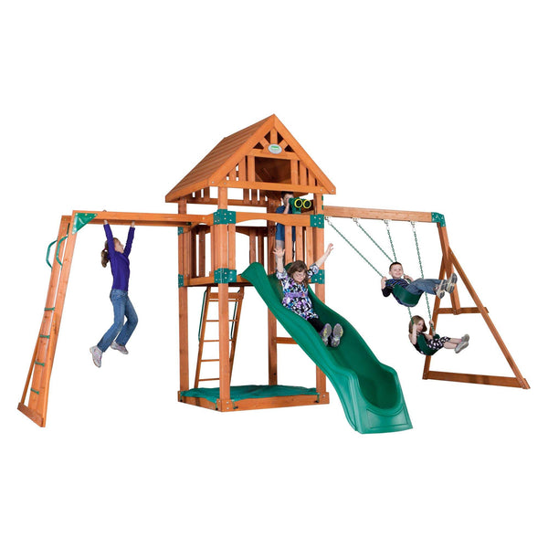 Backyard Odyssey Swing Sets - Capitol Peak Wooden Swing Set #features