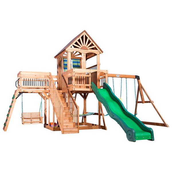 Backyard Discovery Playsets - Caribbean Wooden Swing Set #features