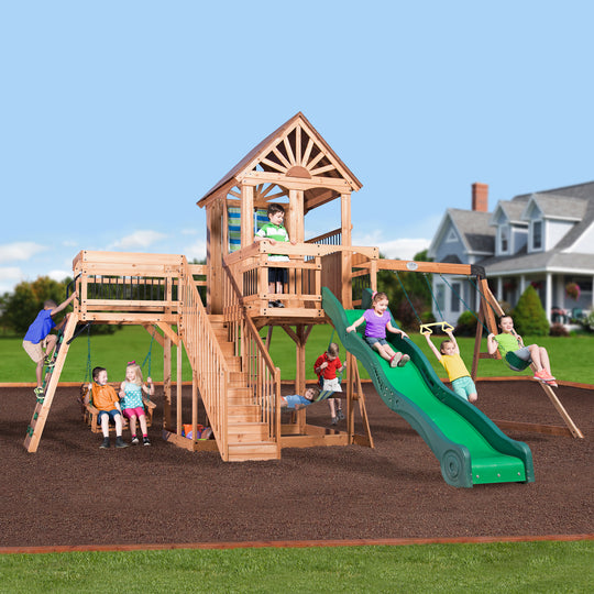 Backyard Discovery Playsets - Caribbean Wooden Swing Set#main