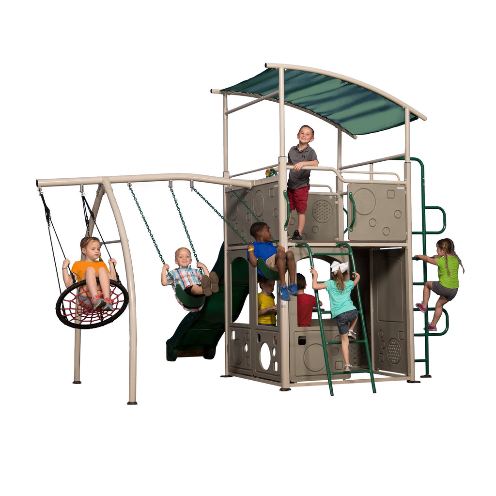 Ordinaire Backyard Discovery Playsets   Castle Grey Metal Swing Set