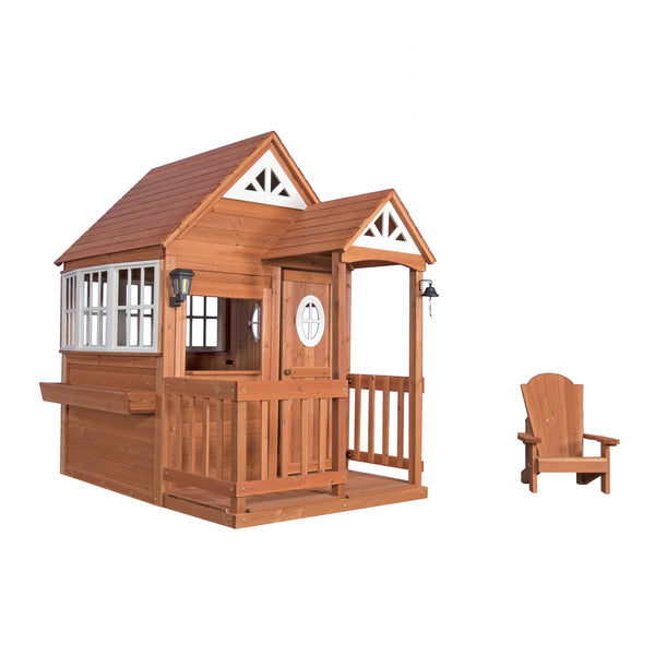 deluxe cedar mansion playhouse backyard discovery 87136