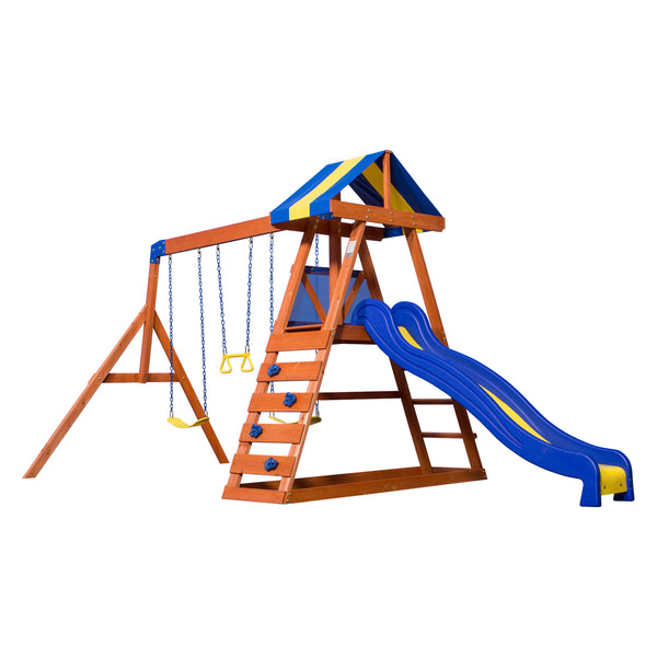 Backyard Discovery Playsets - Dayton Wooden Swing Set#features