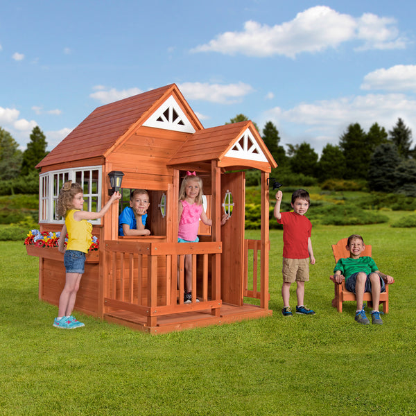 Deluxe Cedar Mansion Playhouse