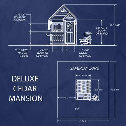 Backyard Discovery Deluxe Cedar Mansion Playhouse #details