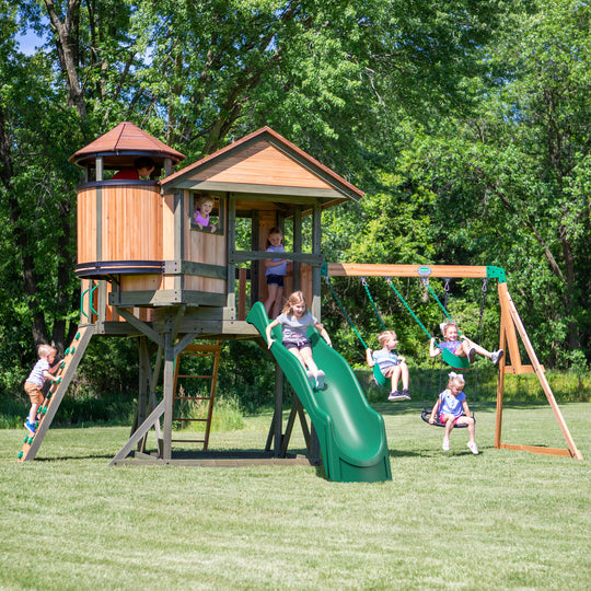 Eagles Nest Elite Wooden Swing Set#main