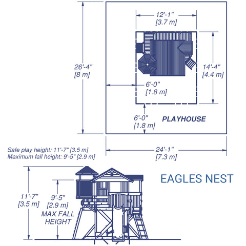 Backyard Discovery - Eagles Nest Wooden Playhouse#details
