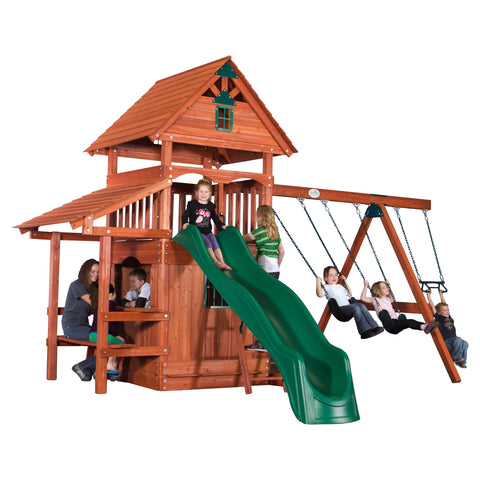 Everglade Wooden Swing Set#features