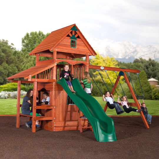 Everglade Wooden Swing Set#main