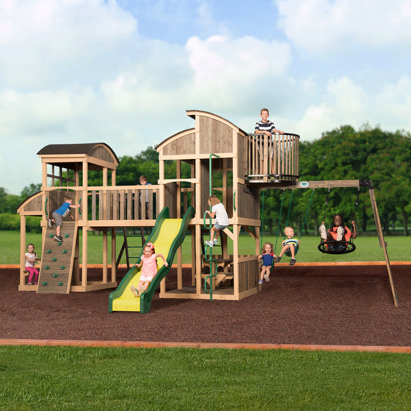 Grand Escape Wooden Swing Set